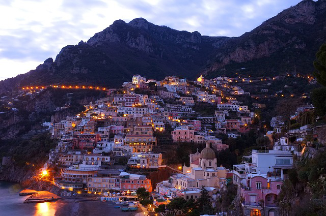 Italian Towns at Sunset